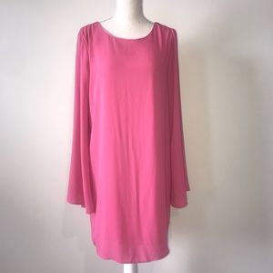Everly Pink Dress - Crisscross Back Size Large